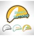 Surfboard label logo or surging shop board T vector image
