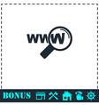 Website search icon flat vector image
