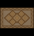 Motley vintage luxurious ethnic brown rug vector image