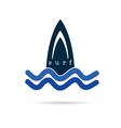 surf icon water in blue color vector image