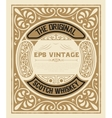 Art-deco Whiskey card vector image