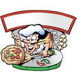 Hand-drawn of an Italian Pizza House vector image