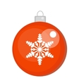 Christmas ball icon Isolated on white vector image