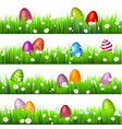 easter egg on the green grass seasonal holidays vector image