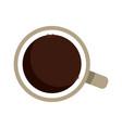 coffe cup beverage fresh hot break office vector image