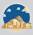 Flat design desert village vector image