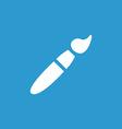paintbrush icon white on the blue background vector image