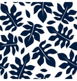 Beautiful floral leaf seamless pattern vector image
