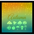 Seasons backgound with icons vector image