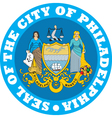 Philadelphia city seal Vector Image