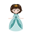 beautiful princess on white vector image