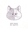 cat cute doodle vector image vector image