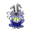 cute rabbit cartoon icon handmade baby vector image