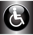 Disabled icon on black button vector image