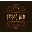 Ethnic food logo mandala design vector image