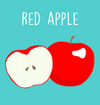 fresh red apples graphic vector image