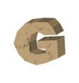 letter g stone font rock alphabet symbol stones vector image