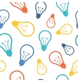 Simple colorful light bulb seamless pattern vector image