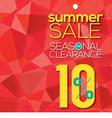 Summer Sale Modern Background vector image