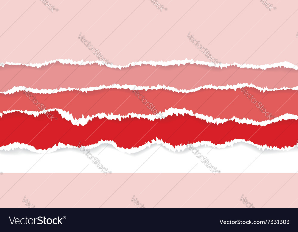 Background of red torn paper vector
