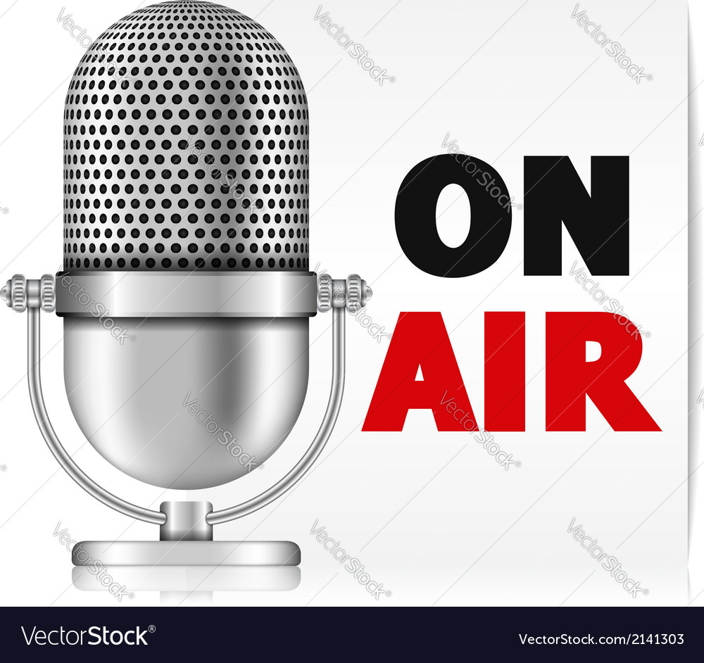 Microphone on air vector