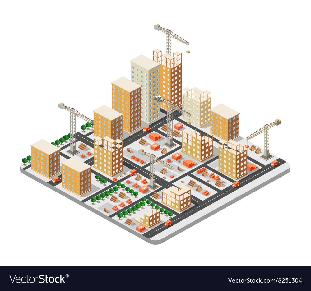 Crane construction industry vector