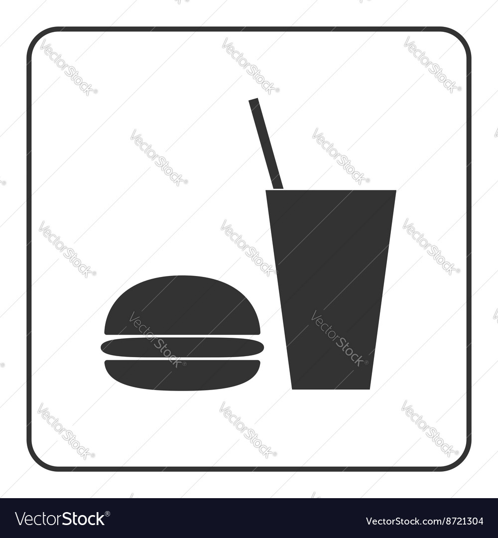 Food and drink icon vector