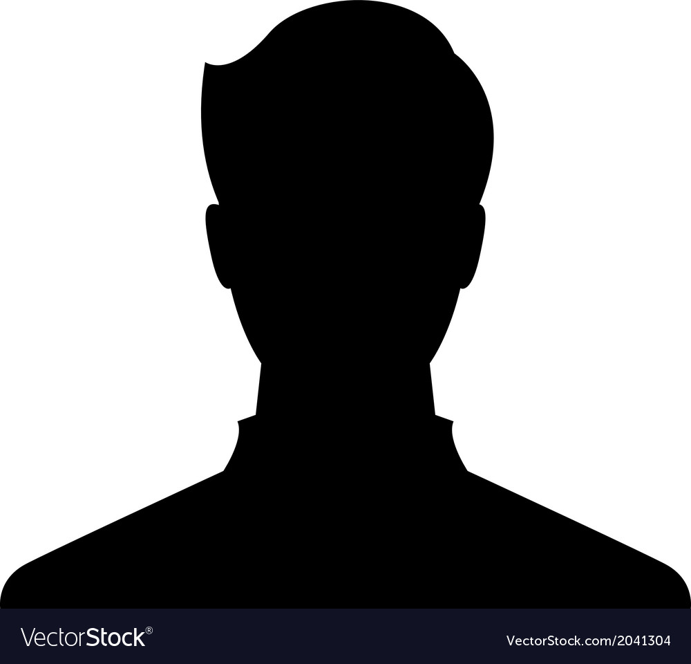 Male profile picture vector