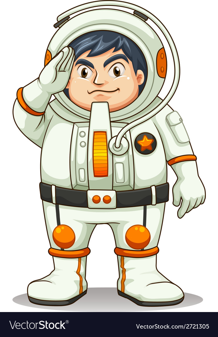 A fat astronaut vector