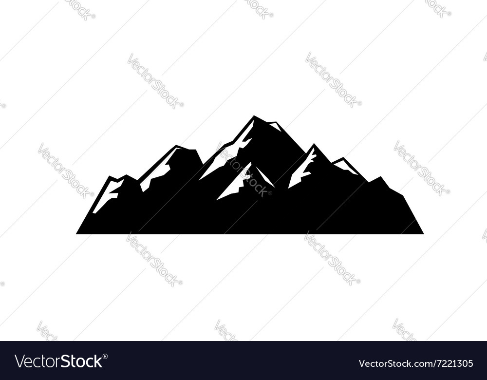 Black mountain vector