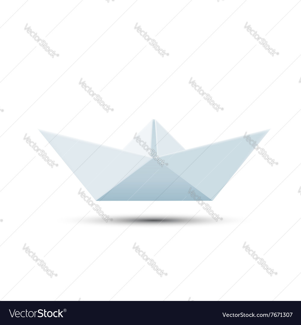 Paper boat isolated on white background vector