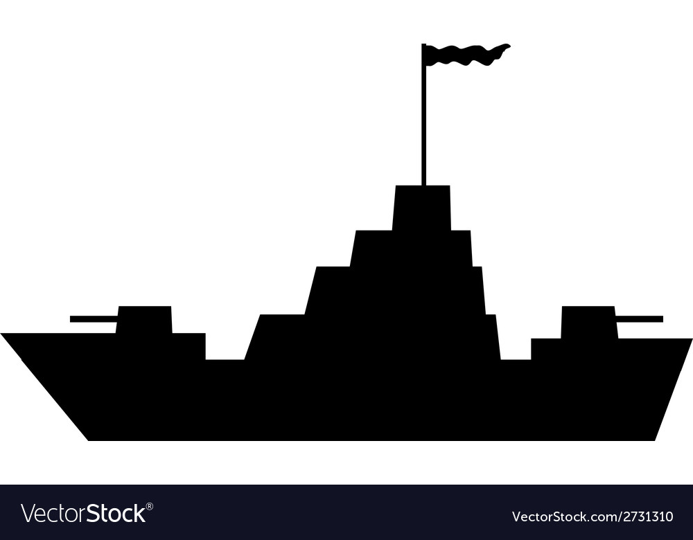 Warship icon vector