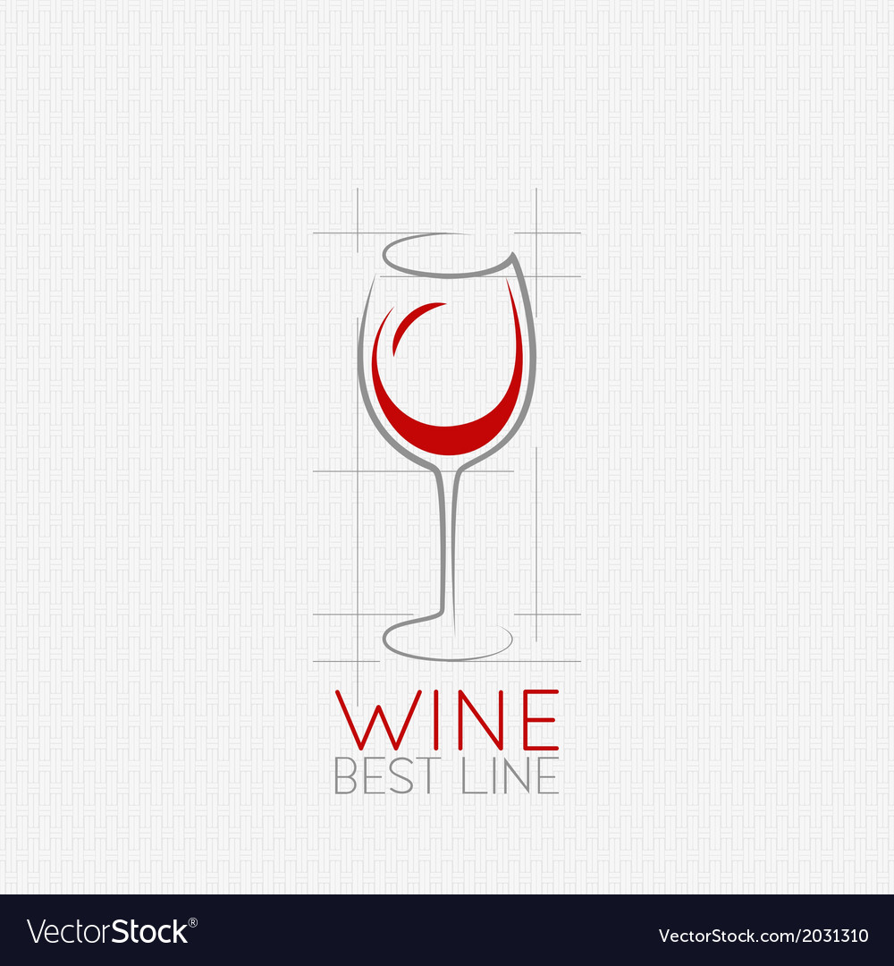 Wine glass design background vector
