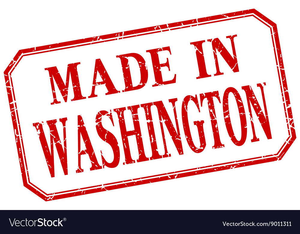 Washington  made in red vintage isolated label vector
