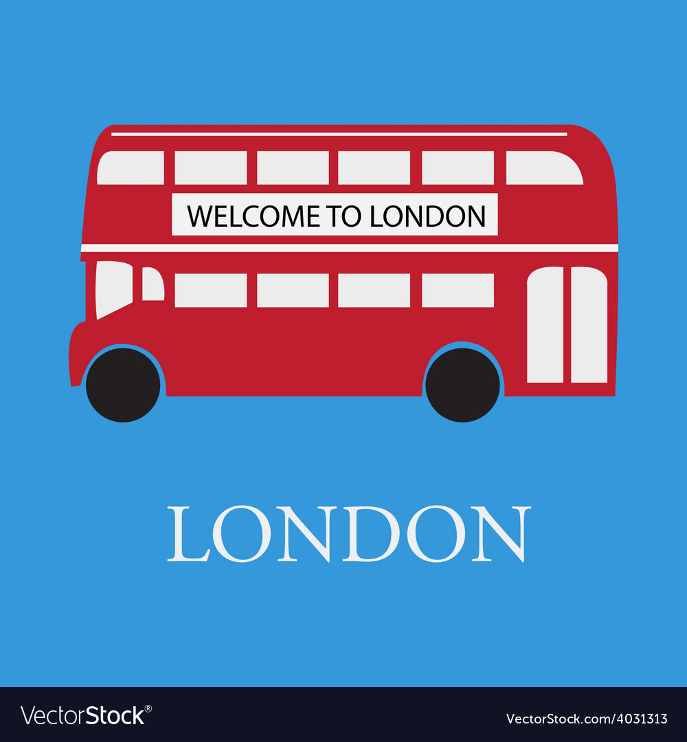 Bus london vector