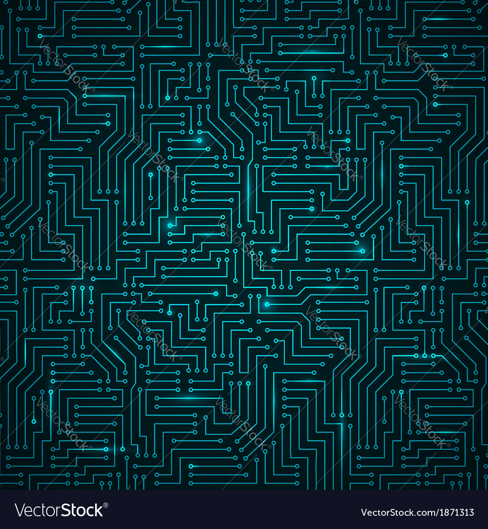 Futuristic shining dark blue technology backgorund vector