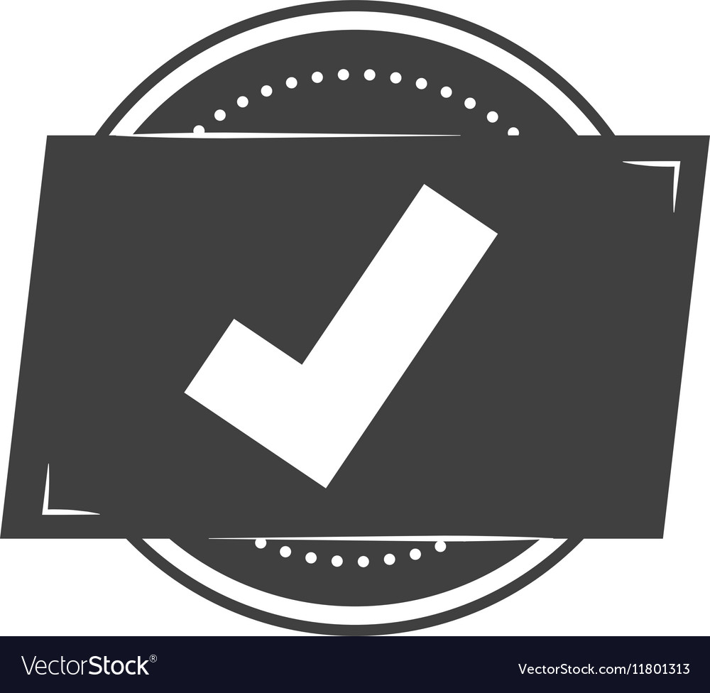 Seal of guarantee with approval symbol vector