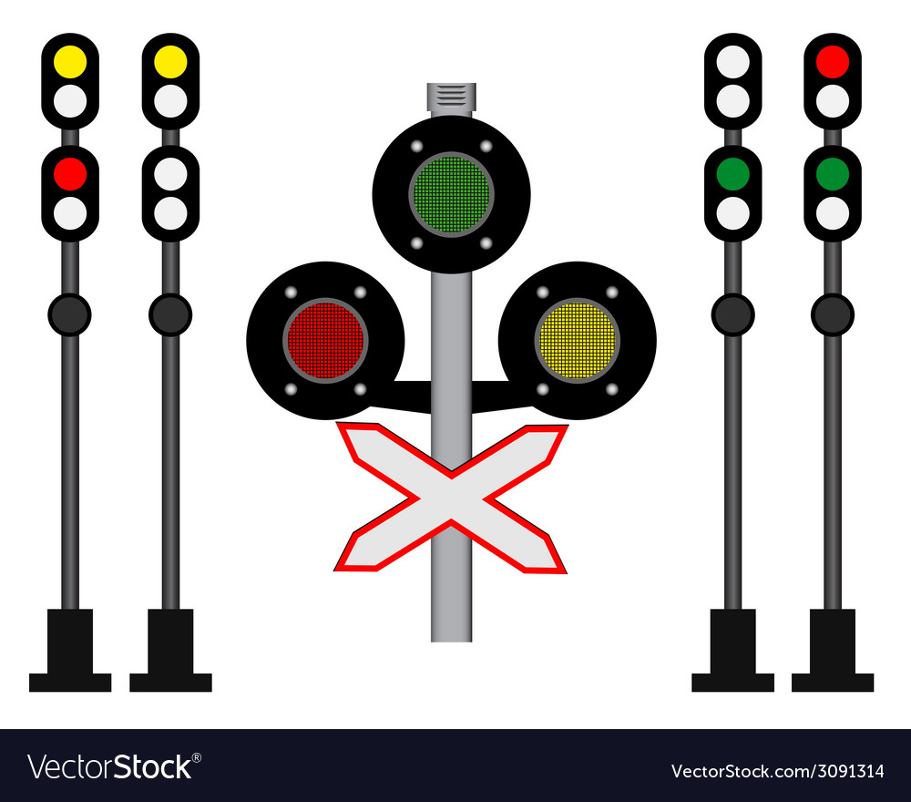 Railway traffic vector