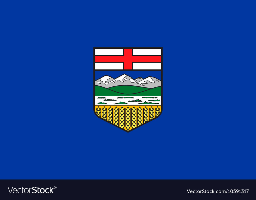 Flag of alberta in correct proportions and colors vector