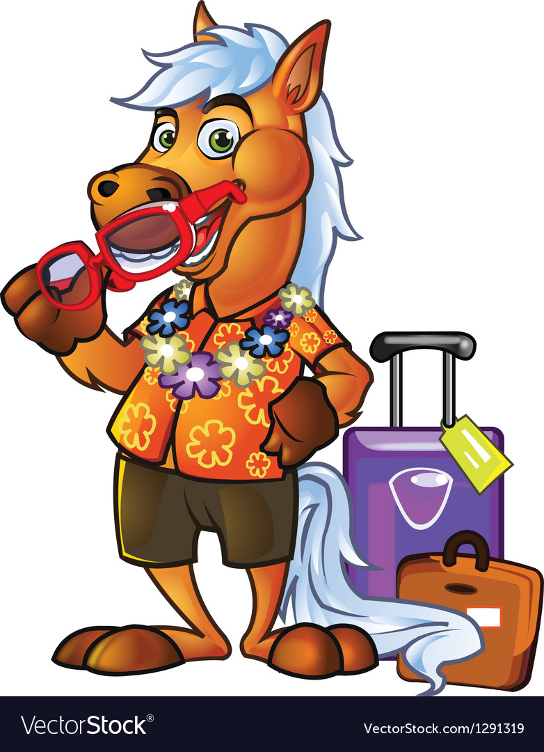 Pony tourist vector