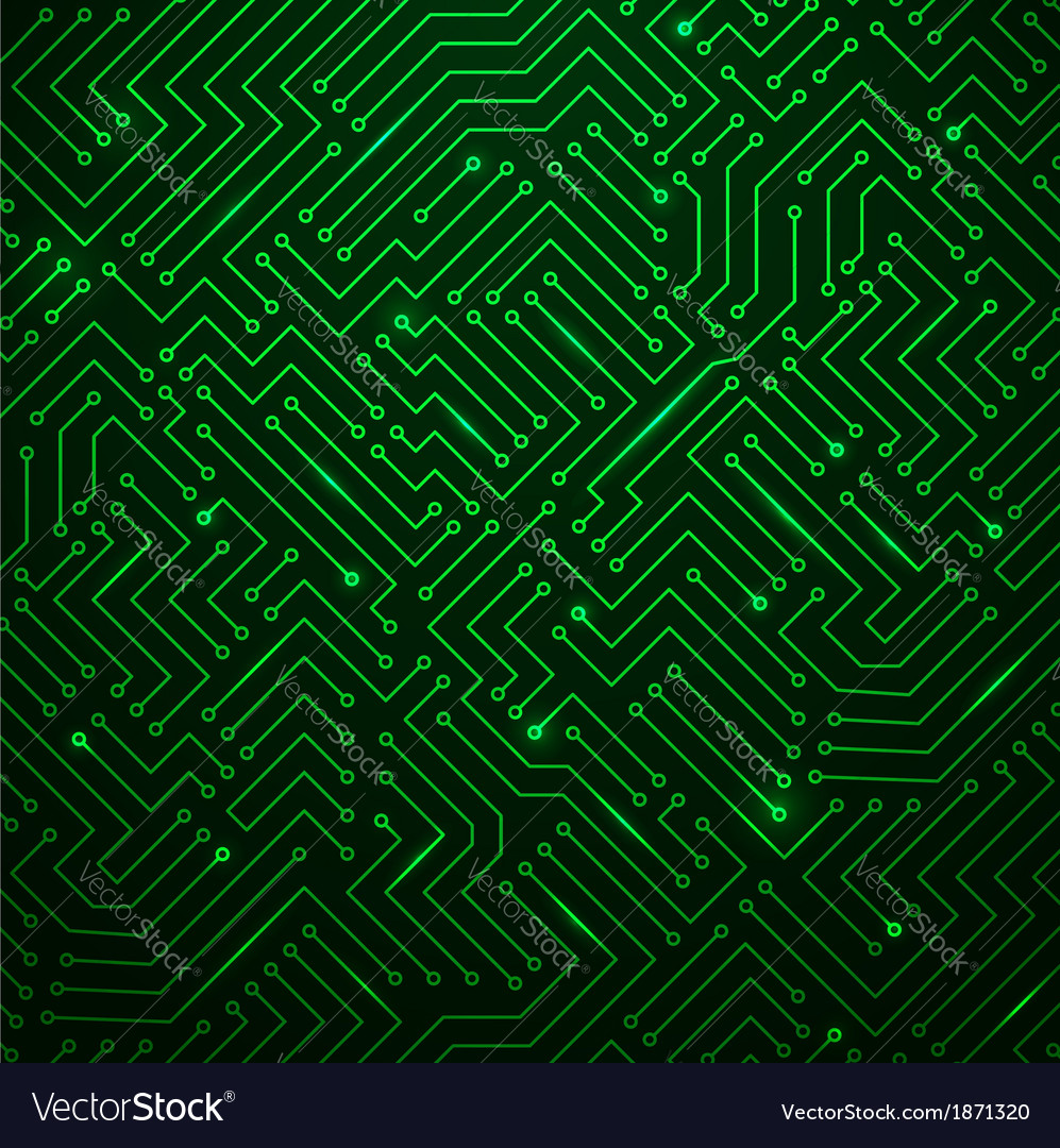 Futuristic shining green technology backgorund vector