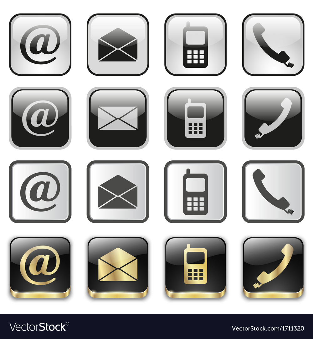 Icon app set vector