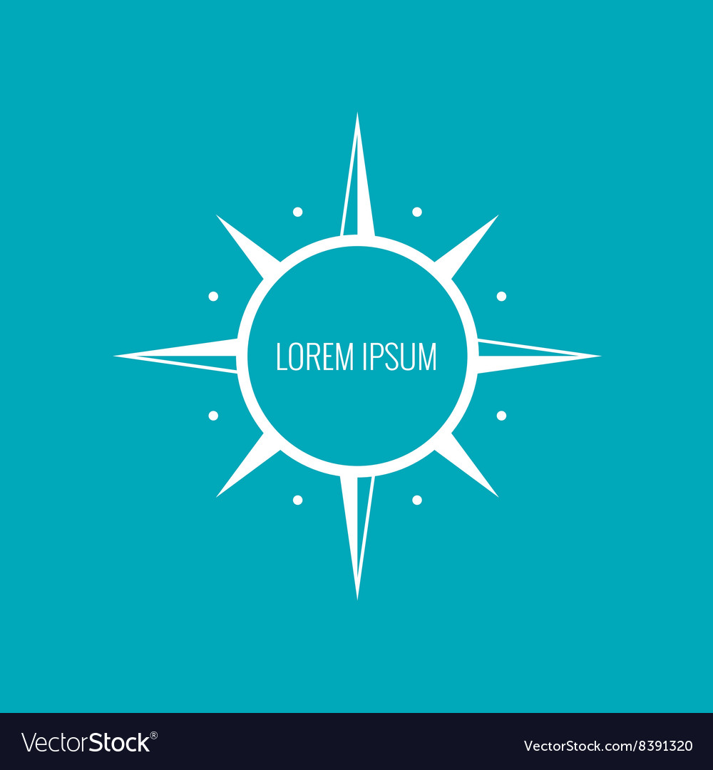 Icon circle with spikes vector
