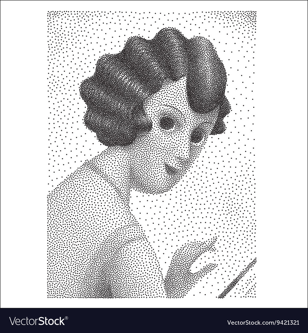 Reading fashion magazine halftone vector