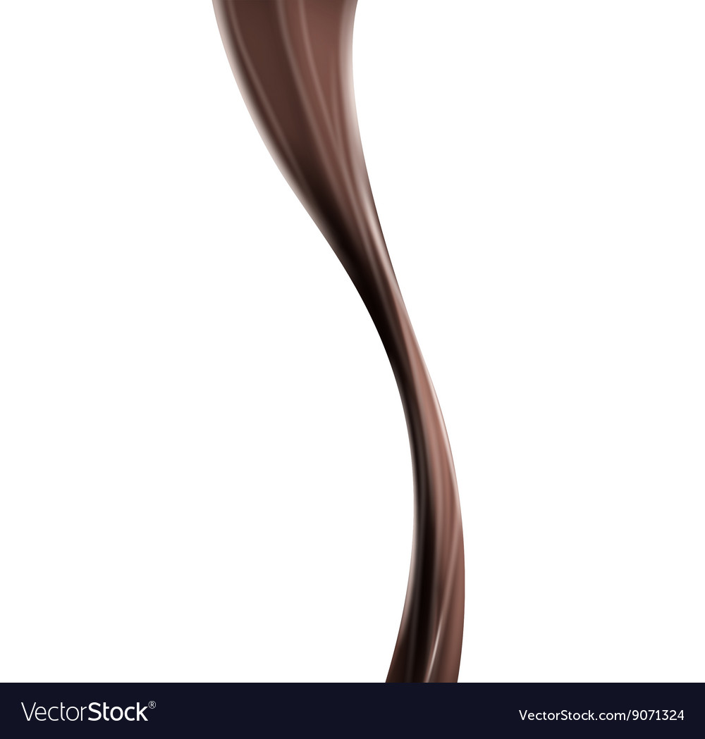Chocolate cocoa flow vector