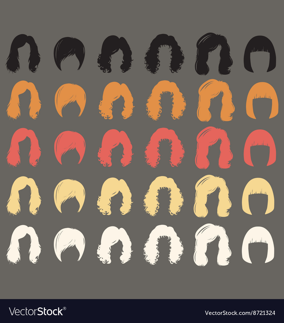 Hairstyle silhouette vector