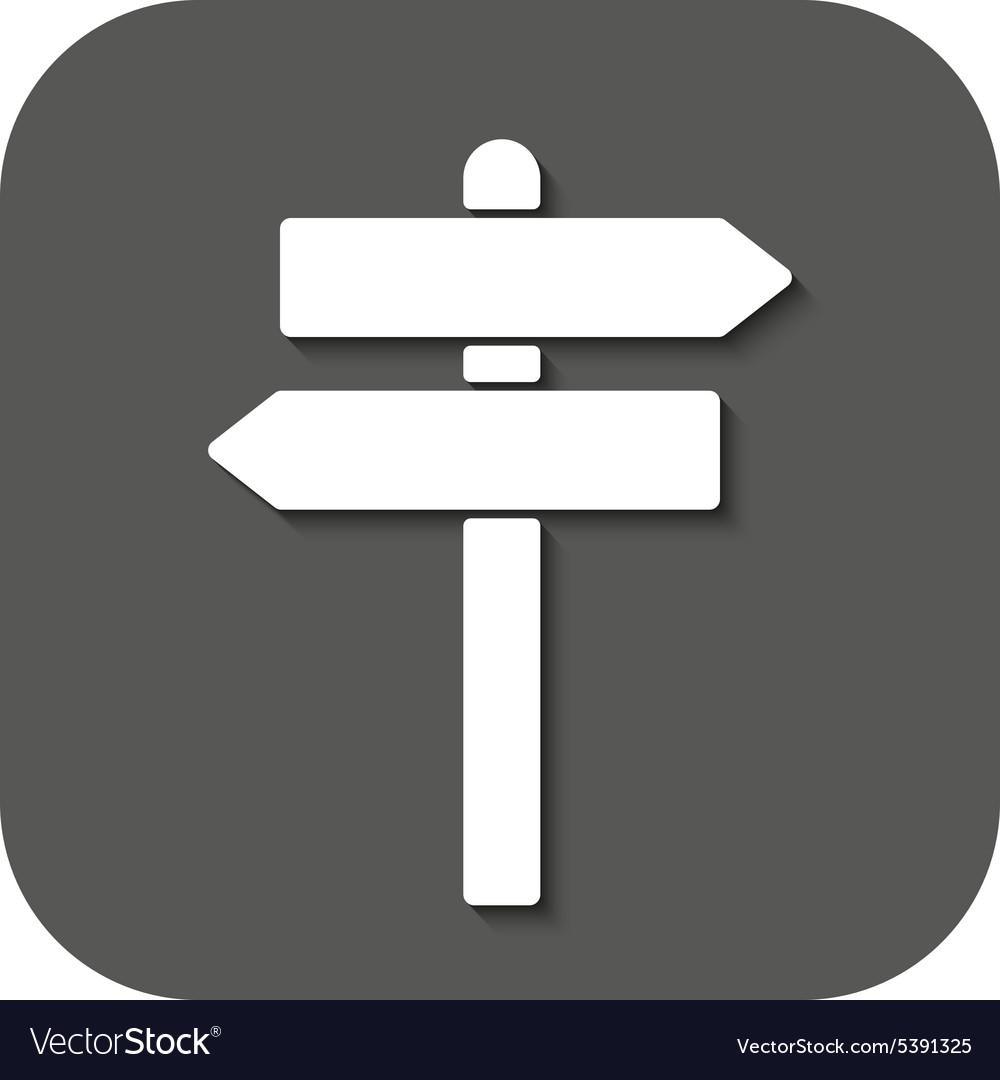 Signpost icon pointer symbol flat vector