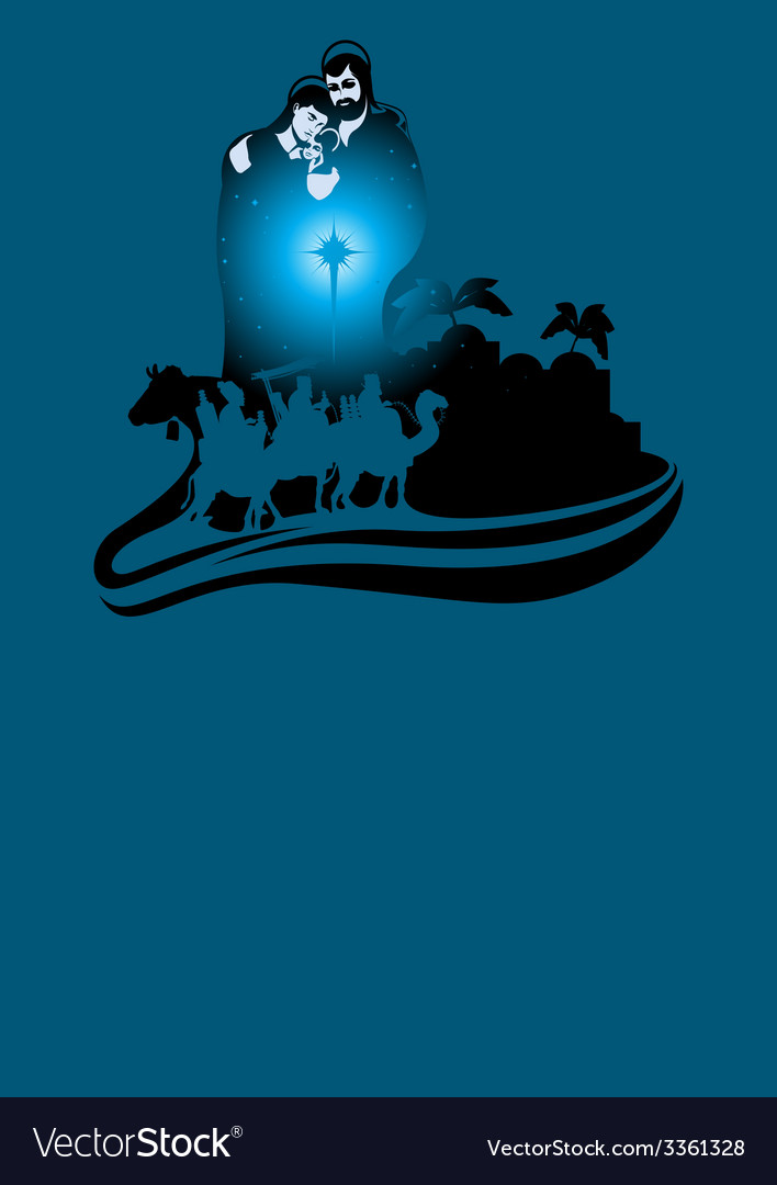 Three wise men card vector