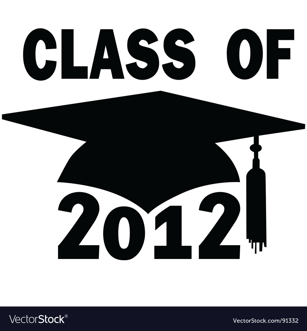 College high school graduation vector