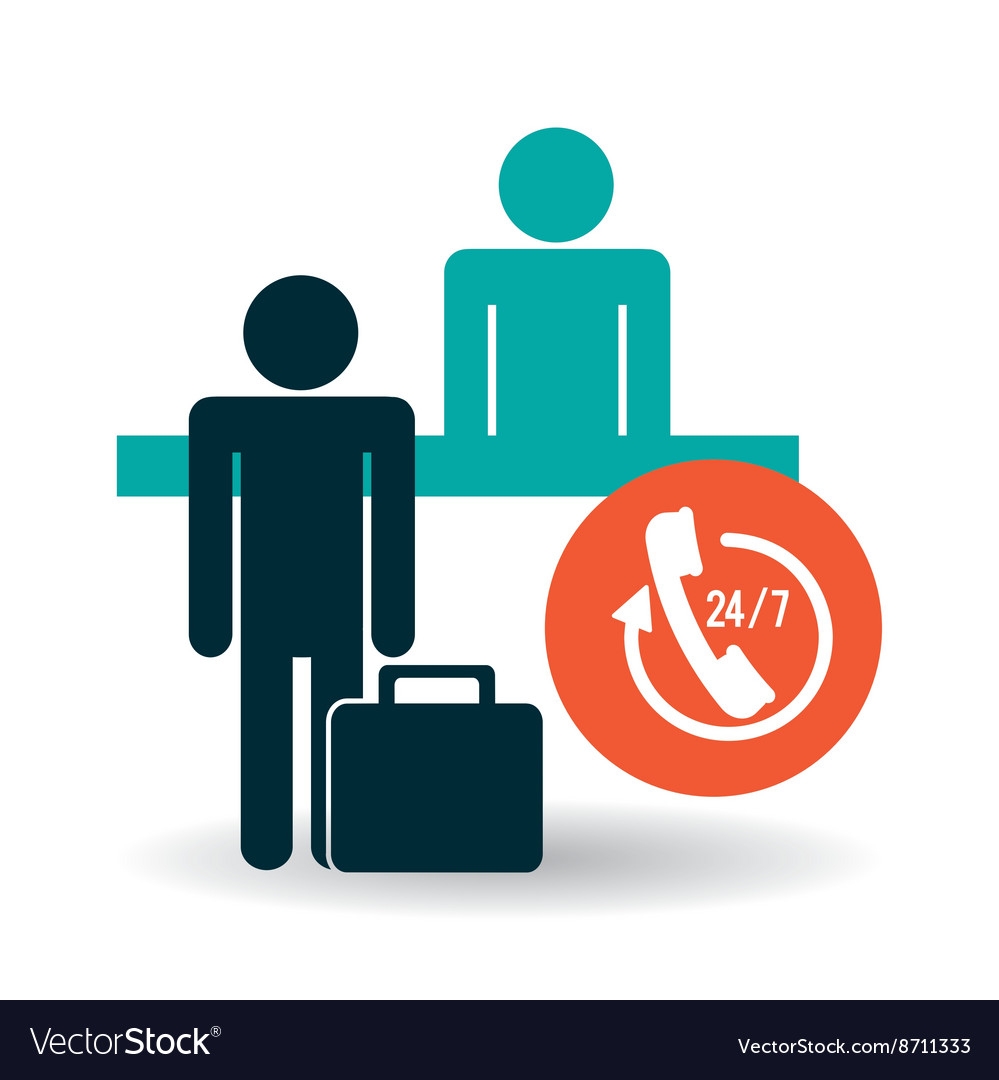 Hotel design service icon travel concept vector